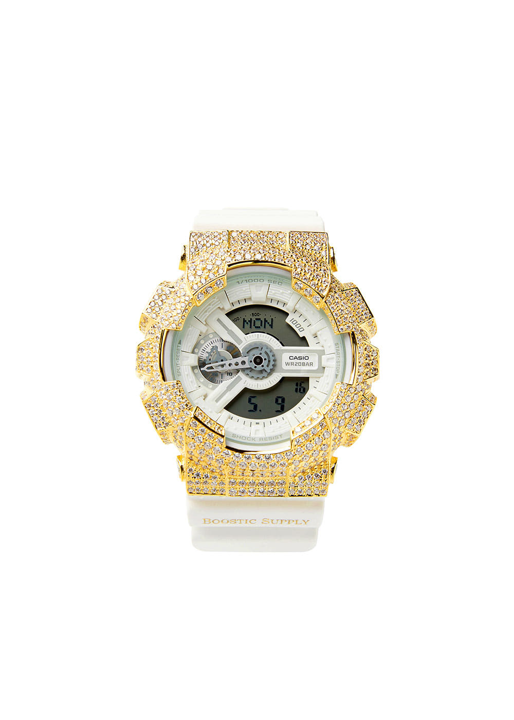 GA110-GCWHGD GOLD (WHITE BAND)