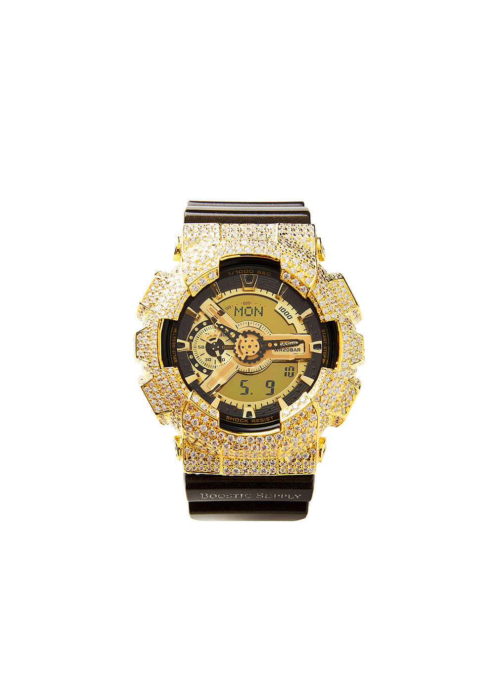 GA110-GCBKGD GOLD (BLACK BAND)