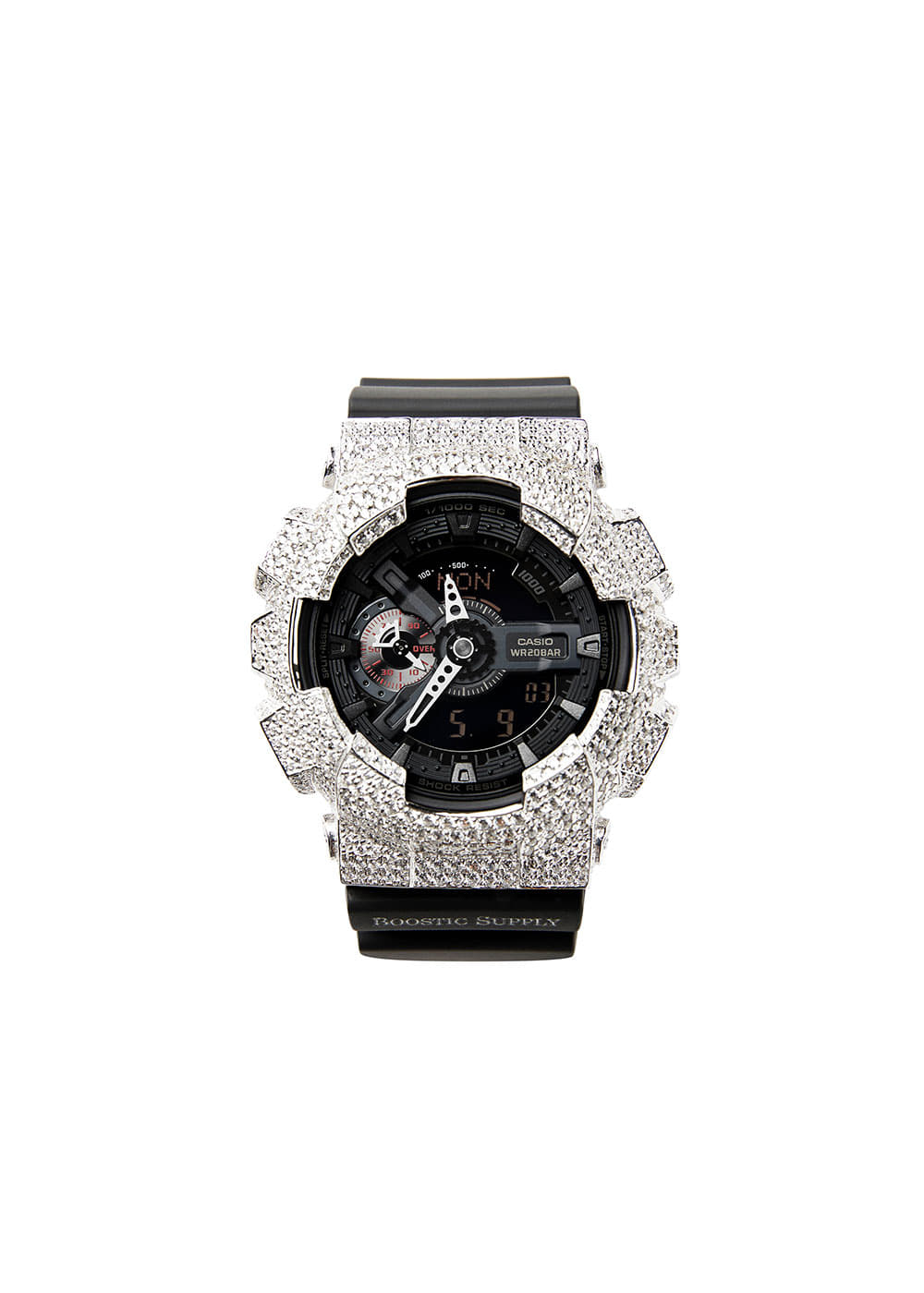 GA110-GCBKWG WHITE GOLD (BLACK BAND)