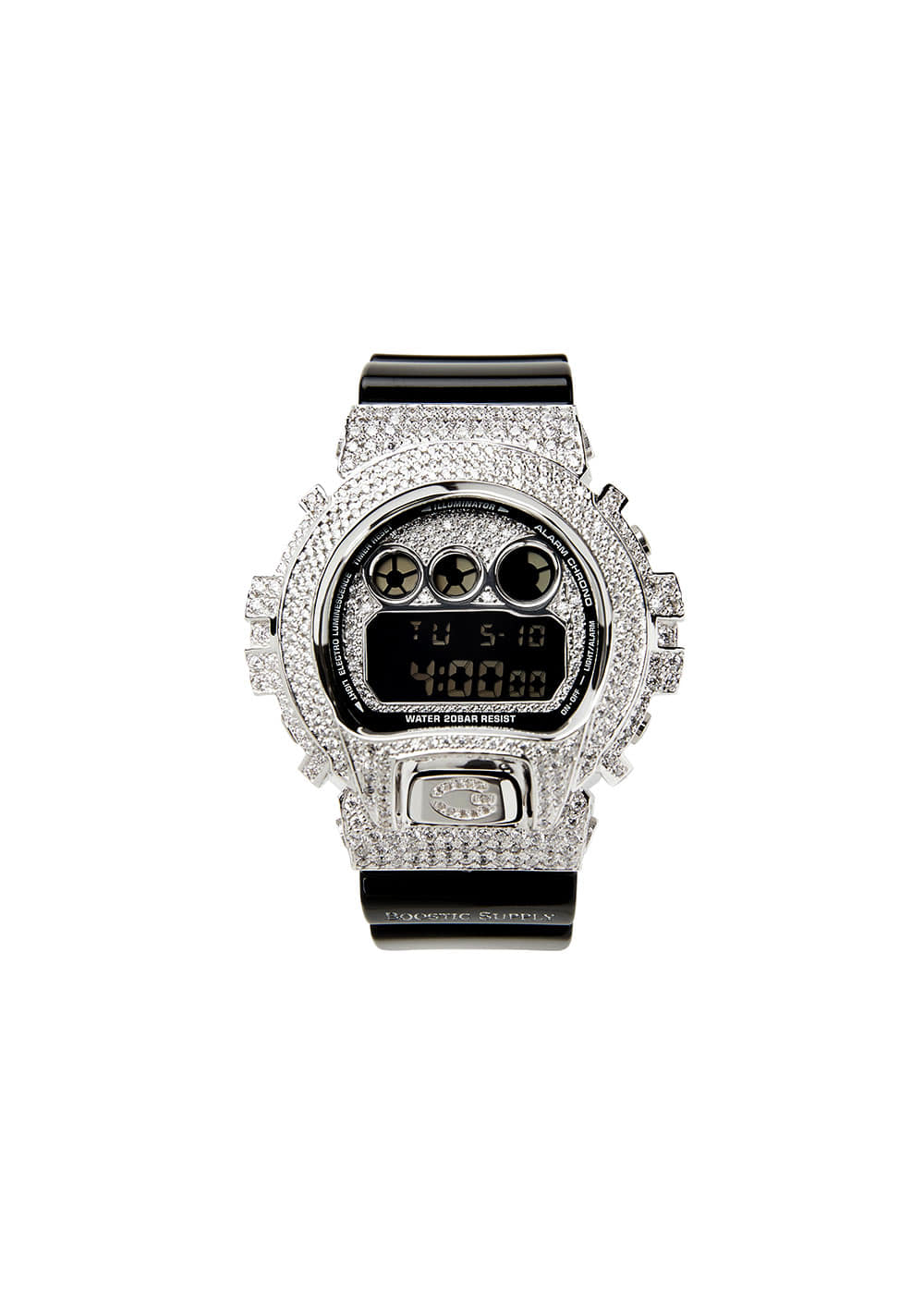 DW6900-GCBKWG WHITE GOLD (BLACK BAND)